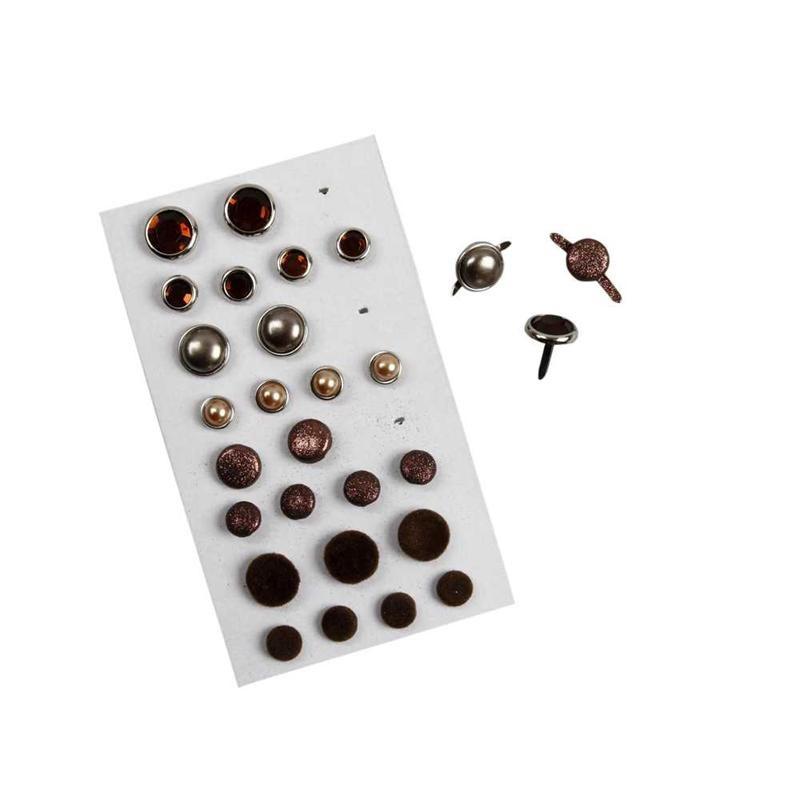 Pioneze,8-13mm,4modele,maro,28 buc/set