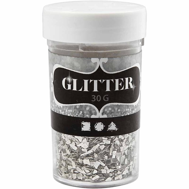Glitter,30g,1-3mm,argintiu