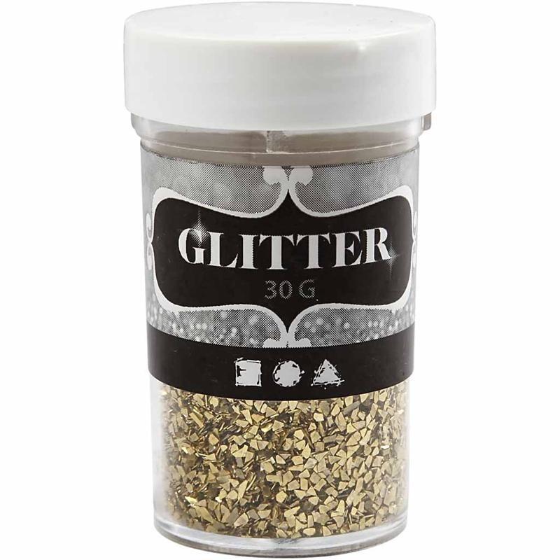 Glitter,30g,1-3mm,auriu
