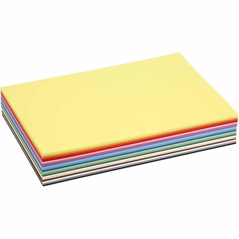 Carton A4,180g,20 culori asoratate