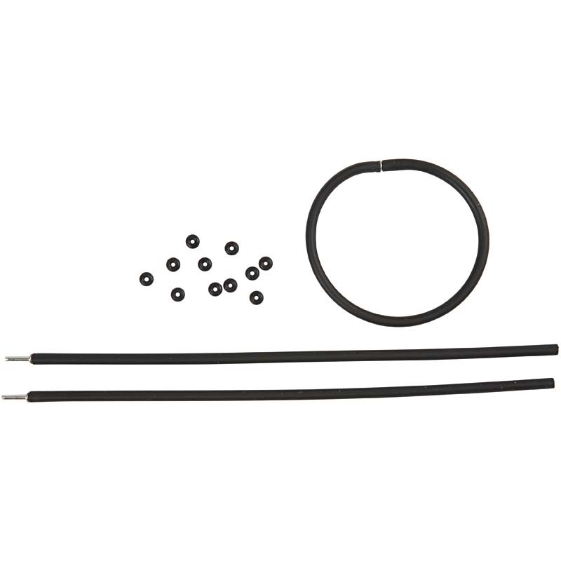 Bratara silicon,20cm,3buc,negru