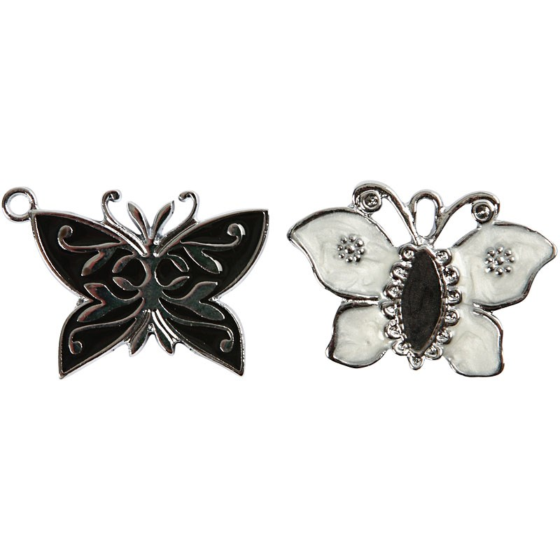 Pandantiv,fluture,20x26mm,placat ag.4buc