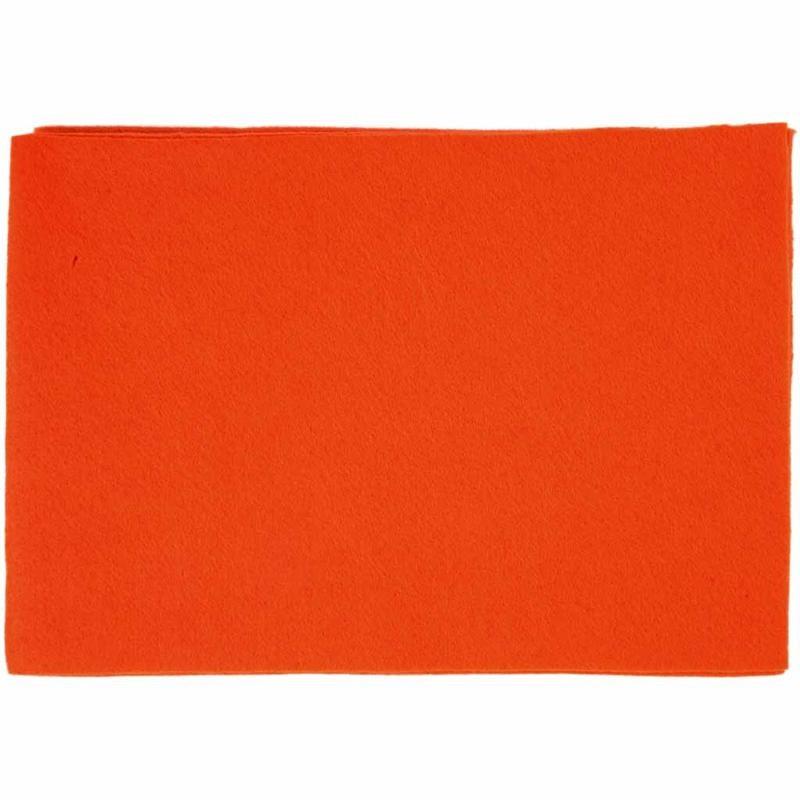 Fetru A4,21x30x0.2cm,portocaliu,10b/s