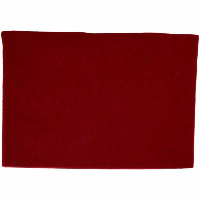 Fetru A4,21x30x0.2cm,rosu inchis,10b/s