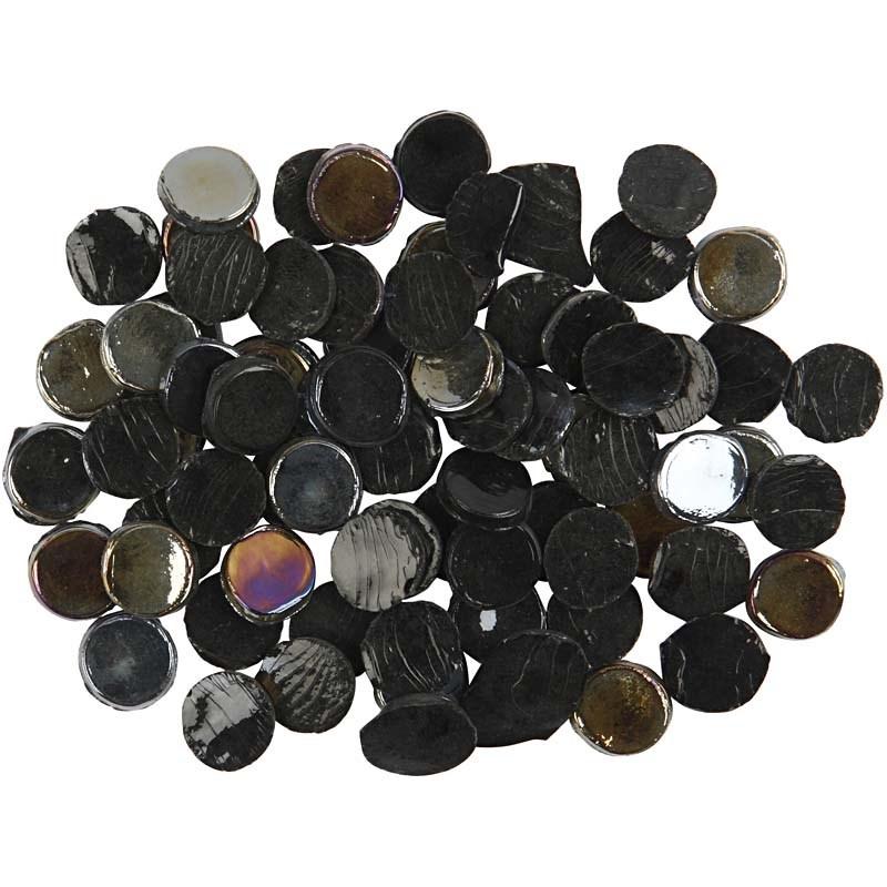 Mozaic,10mm,200g,rotunde,negru