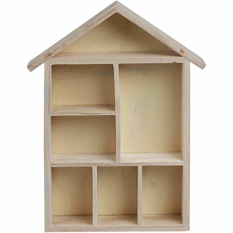 Etajeta casuta,lemn,30x22x4,5cm