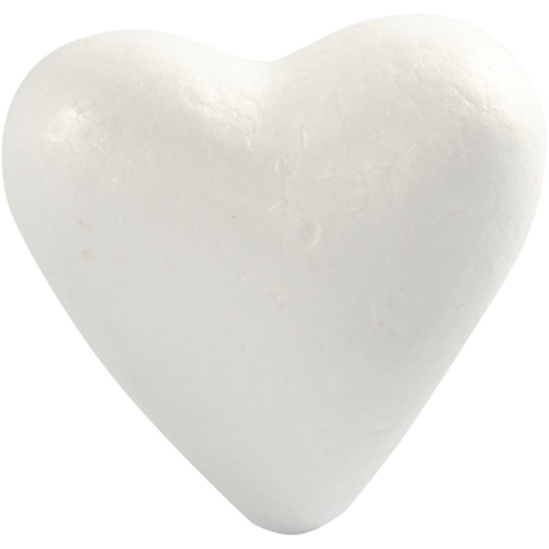 Inimi polistiren,12cm,5buc