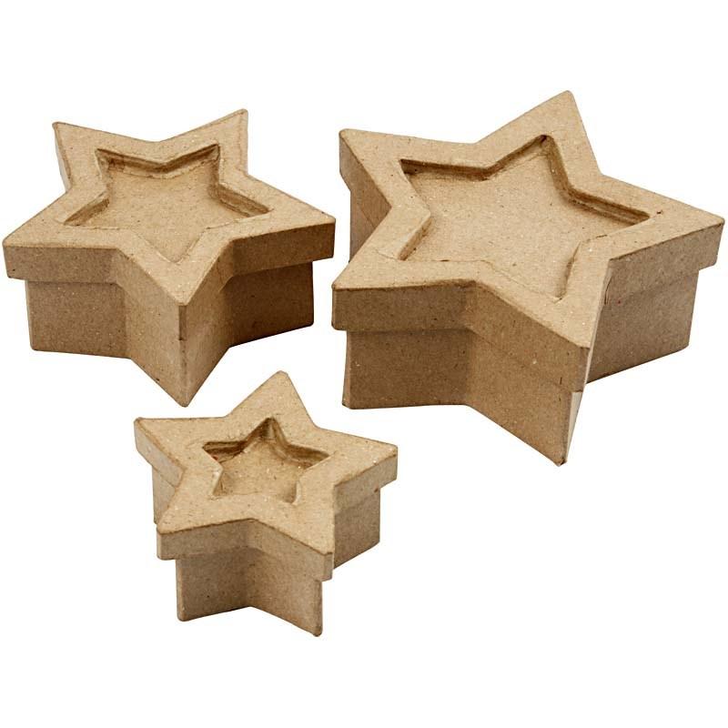 Cutie carton,stea,15x15x6cm,3buc/set