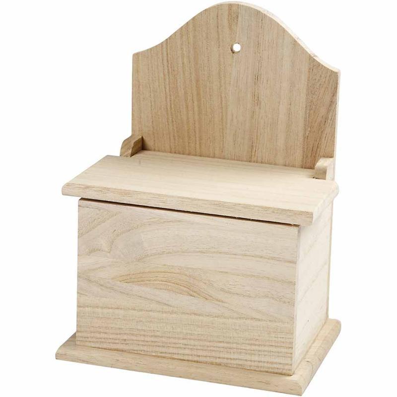 Cutie pt sare,lemn,14,5x10x19,5cm