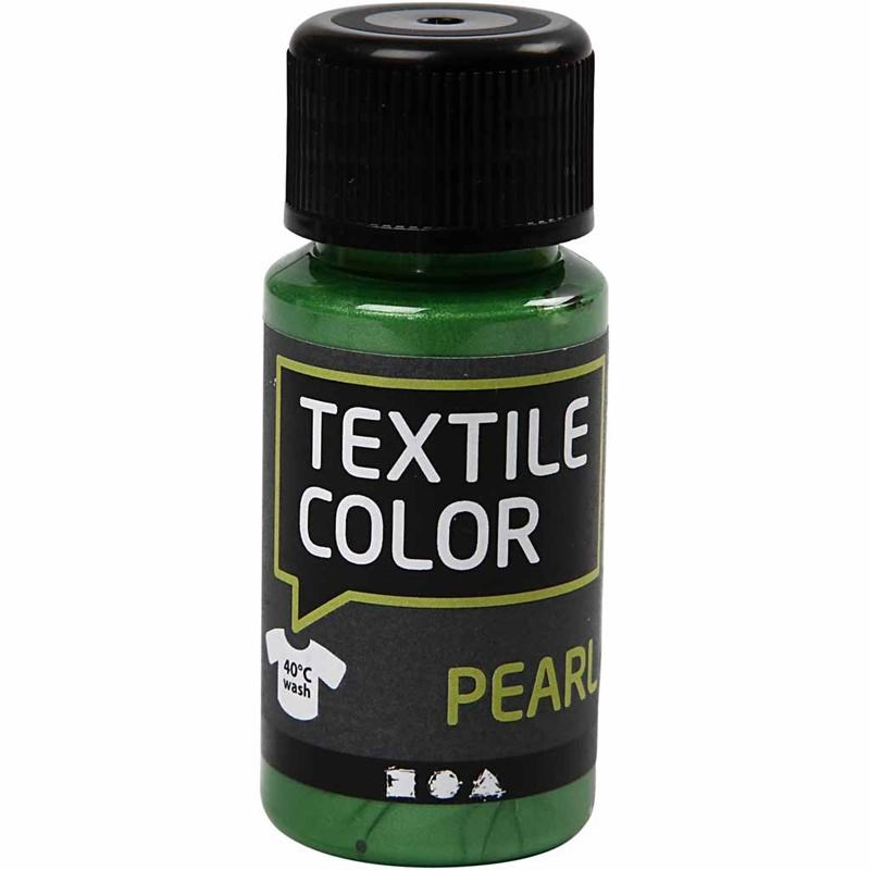 Culori perlate pt tesaturi,50ml,verde