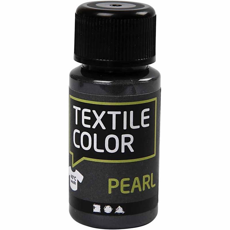 Culori perlate pt tesaturi,50ml,gri