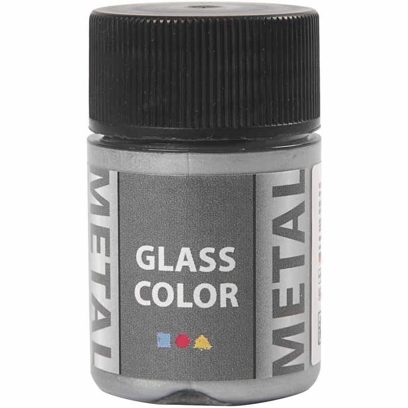 Vopsea cu efect metalic,35ml,argintiu