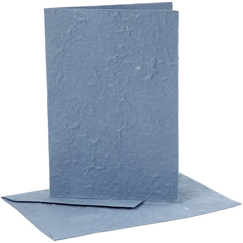 Felicitare,plic,10.5x15cm,bleu,5buc