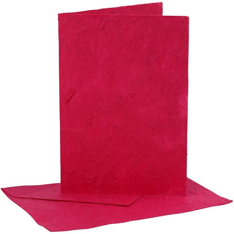 Felicitare,plic,10.5x12.5cm,roz,5buc