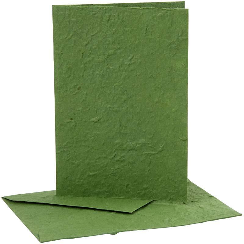 Felicitare,plic,10.5x15cm,verde,5buc