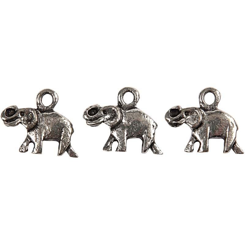 Pandantiv,elefant,15x15x4mm,placat ag.5b
