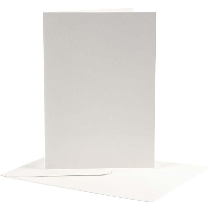 Felicitare,plic,12.5x17.5cm,alb,10buc
