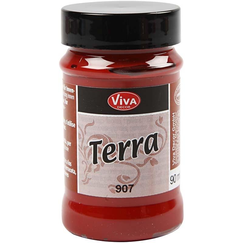 Vopsea acrilica efect teracota,90ml,rosu