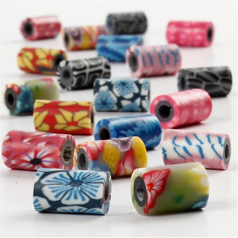 Margele ceramica,6x10mm,tubulare,40 b/s