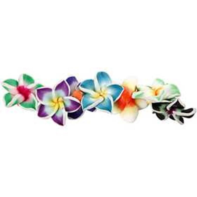 Margele ceramica,25mm,flori,16 b/s