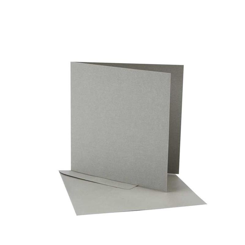 Felicitare,plic,12.5x12.5cm,silver,10buc