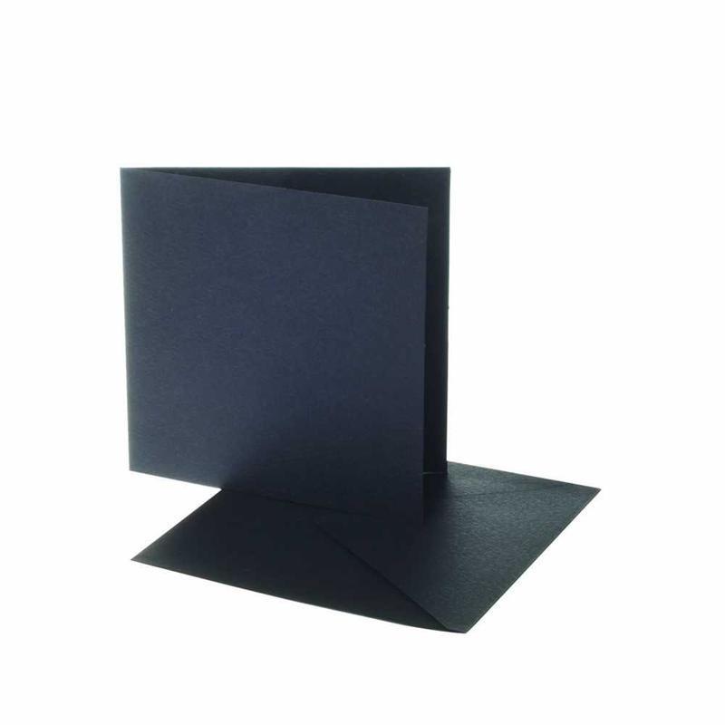 Felicitare,plic,12.5x12.5cm,negru,10buc