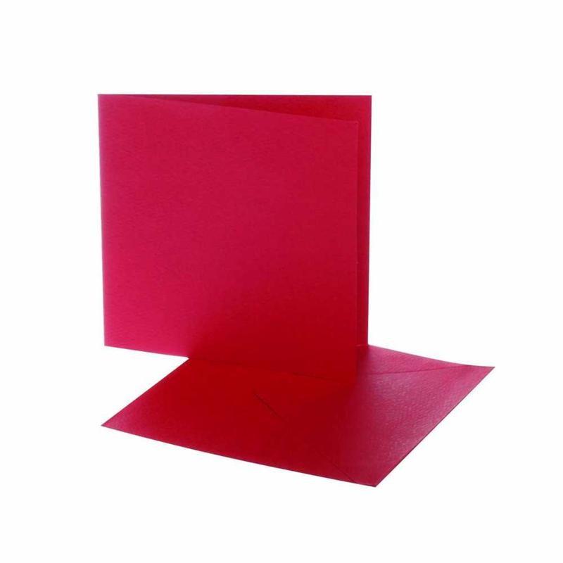 Felicitare,plic,12.5x12.5cm,rosu,10buc