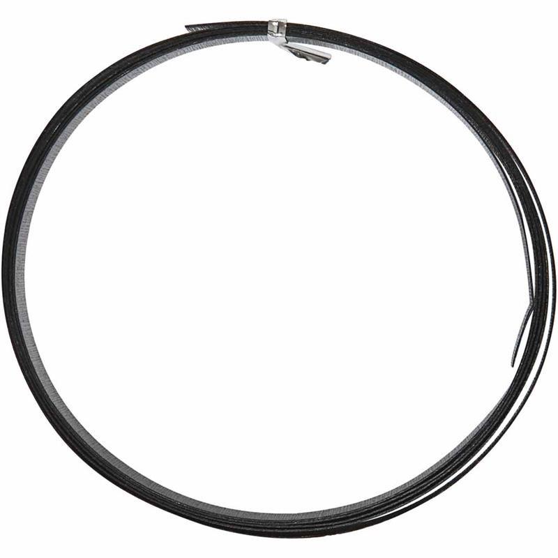 Sarma aluminiu,15mmx2m,plat,negru