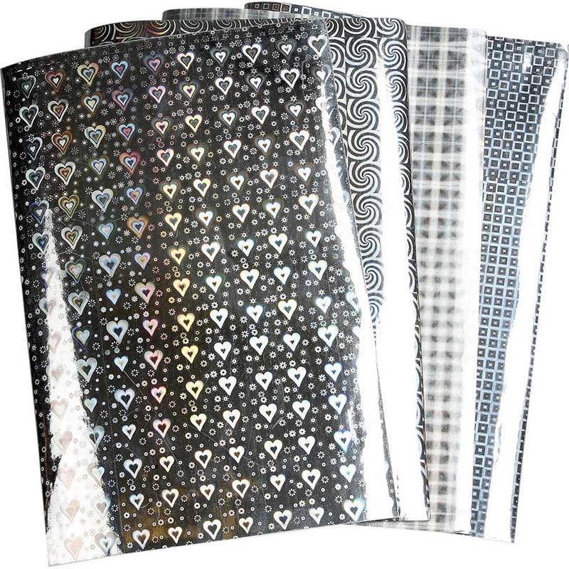 Hatie holografica A4,48buc/set,argintie