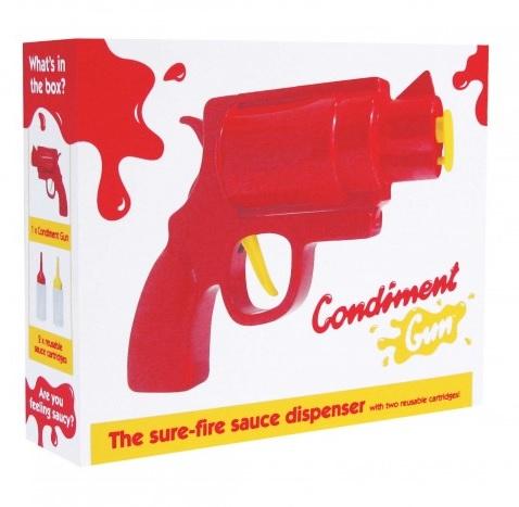 Recipient condimente,forma pistol