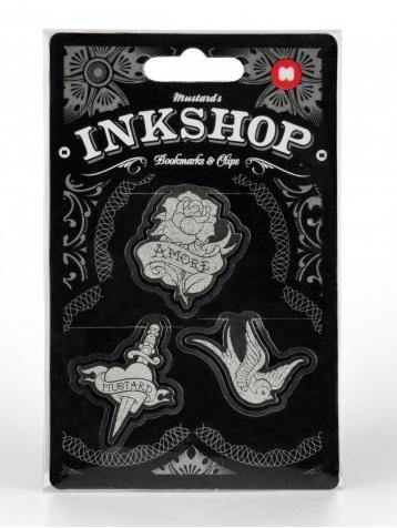 Set Inkshop,agrafe forma craniu,3buc/set
