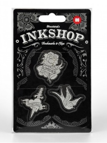 Set Inkshop,agrafe forma tatuaje,3buc/s