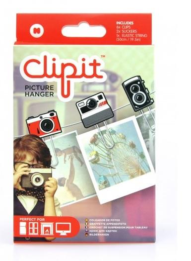 Set Clipit,6 agrafe+elastic,haine