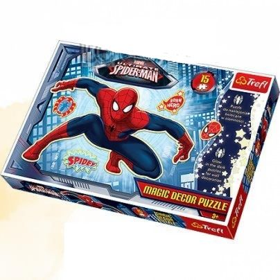 Puzzle spiderman magic decor fluorescent,15 piese