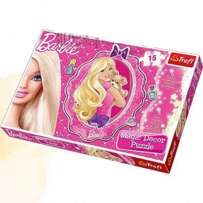 Puzzle barbie magic fluorescent 15 piese