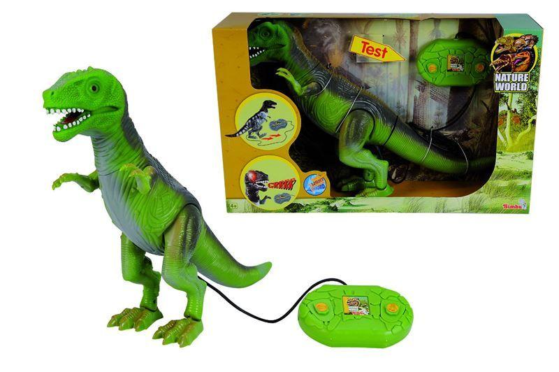 Dinozaur  cu telecomanda cu fir 48 cm