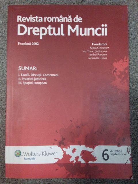 REVISTA ROMANA DE DREPT REPTUL  MUNCII 6/2009