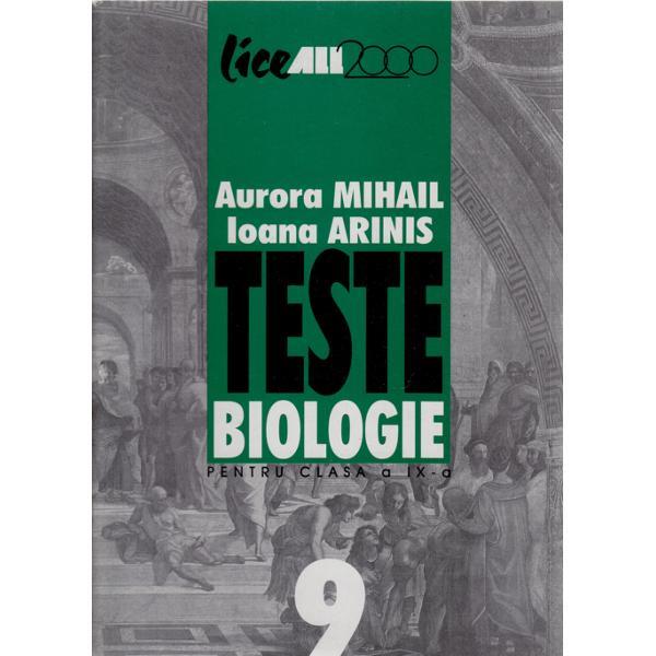 BIOLOGIE-TESTE IX ARINI S
