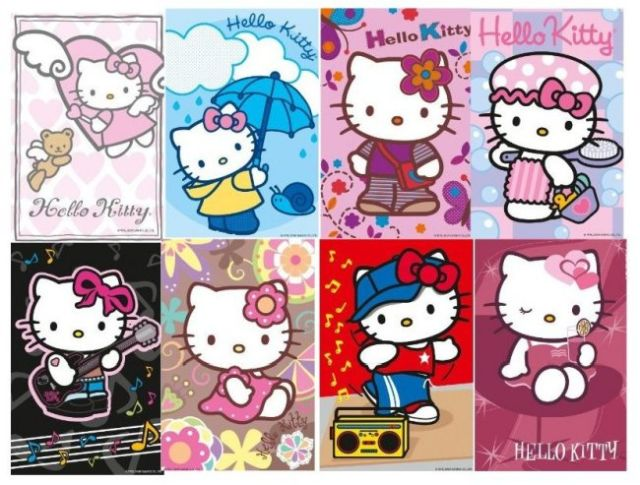 Minipuzzle hello kitty, 54 pcs