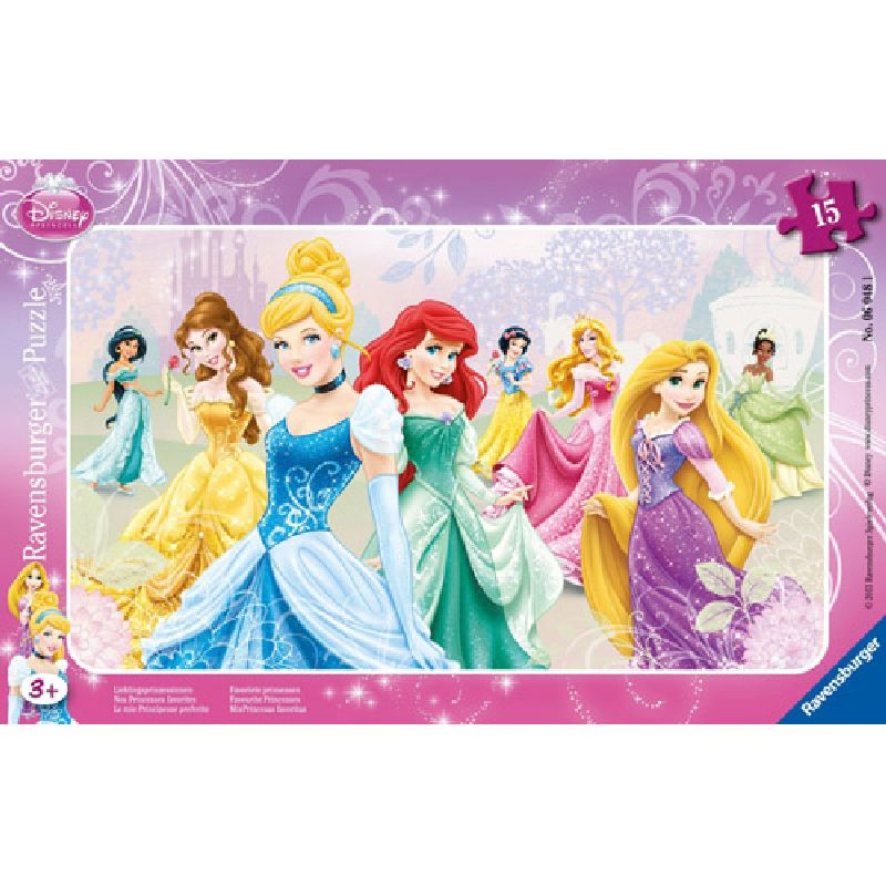 Puzzle printesele disney, 15 pcs