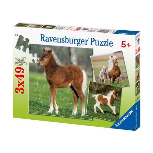 Puzzle ponei, 3x49 pcs