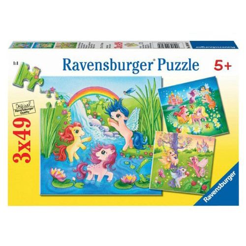 Puzzle ponei in lumea basmelor, 3x49 pcs