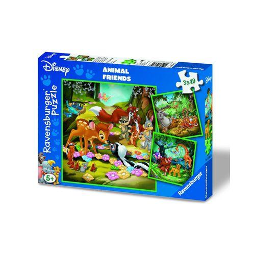 Puzzle bambi, baloo si simba, 3x49 pcs