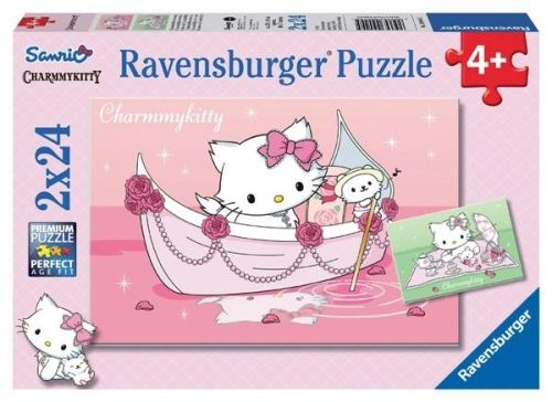 Puzzle hello kitty, 2x24 pcs
