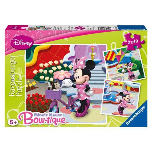 Puzzle disney minnie mouse, 3x49 pcs