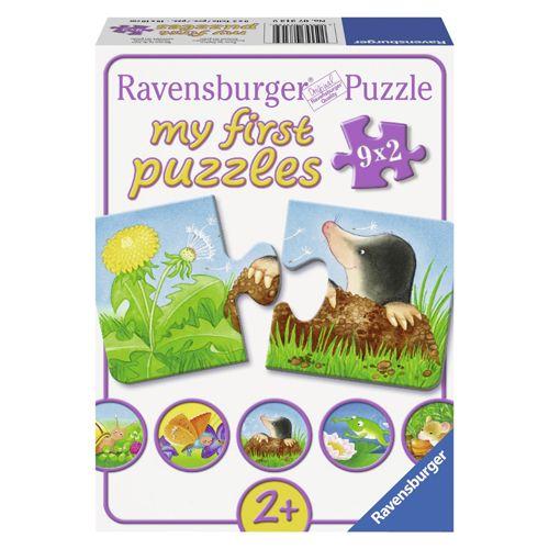 Puzzle animale de gradina, 9x2 pcs