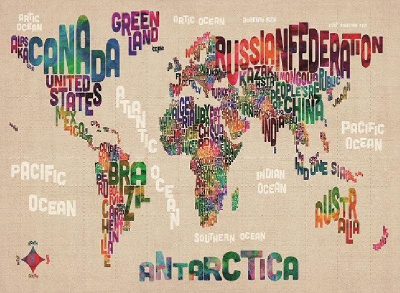 Puzzle lumea in cuvinte, 500 pcs