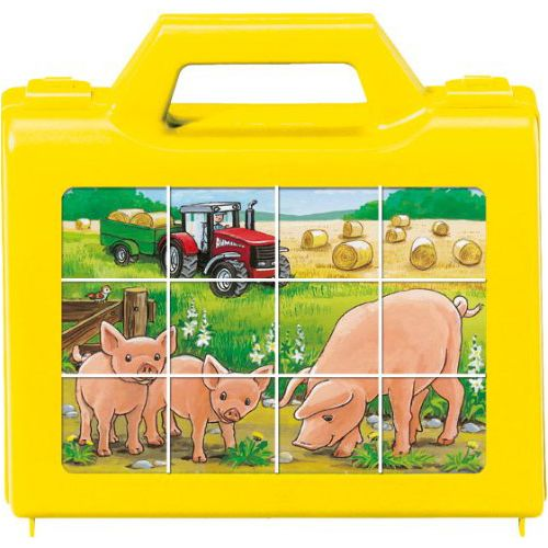 Puzzle animale la ferma, 12 pcs