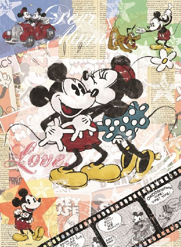 Puzzle mickey mouse, 500 pcs