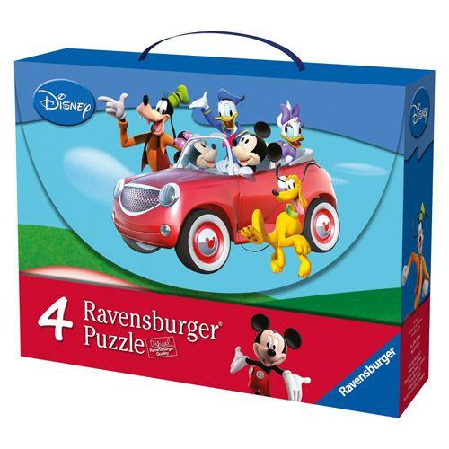 Puzzle mickey si prietenii, 2x25 pcs/2x36 pcs